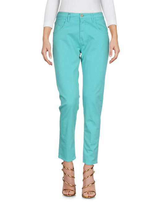 TRUE NYC - Green Denim Pants - Lyst