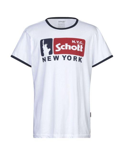 Schott Nyc T-shirts in White für Herren
