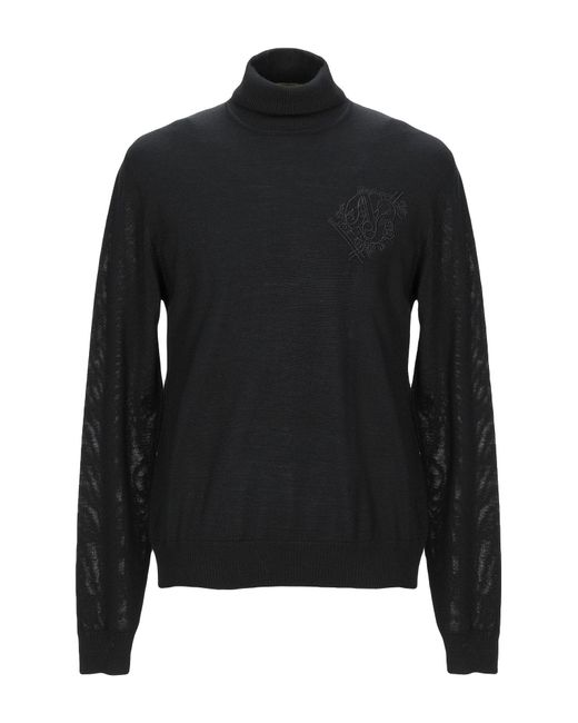 Col roulé Versace Jeans pour homme en coloris Black