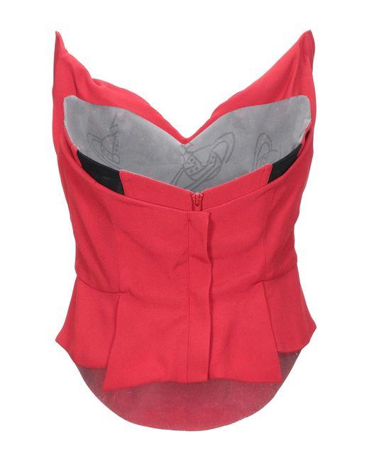 Top a fascia di Vivienne Westwood in Red