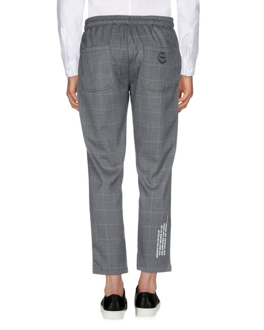 Takeshy Kurosawa Pantalon homme de coloris gris