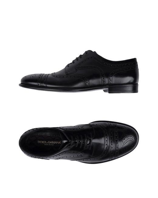 Dolce & Gabbana Black Lace-up Shoe for men