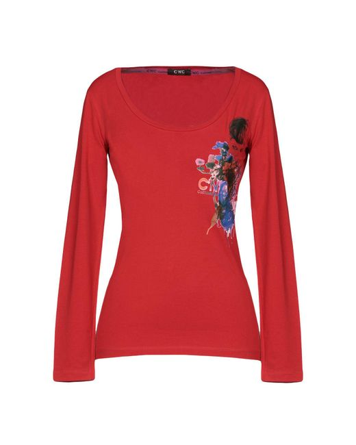 CoSTUME NATIONAL - Red T-shirt - Lyst