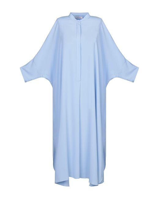 Robe mi-longue Mauro Grifoni en coloris Blue