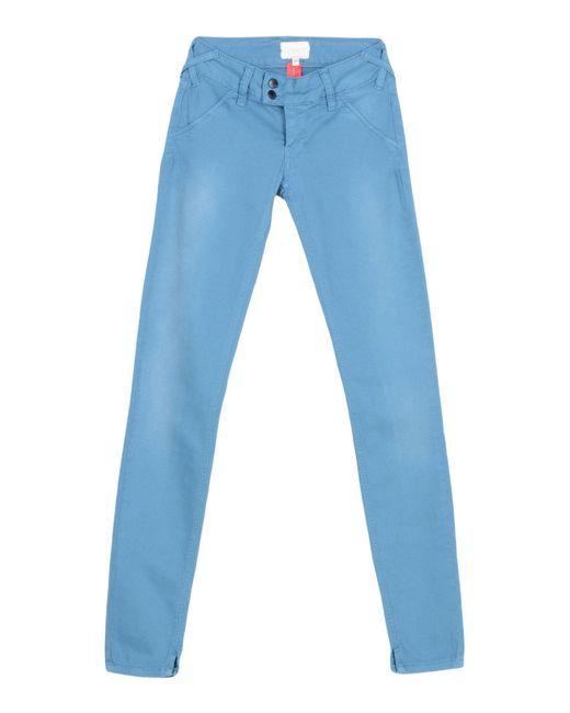 Met Blue Casual Trouser