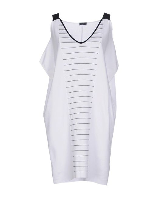 Neera - Natural Short Dress - Lyst
