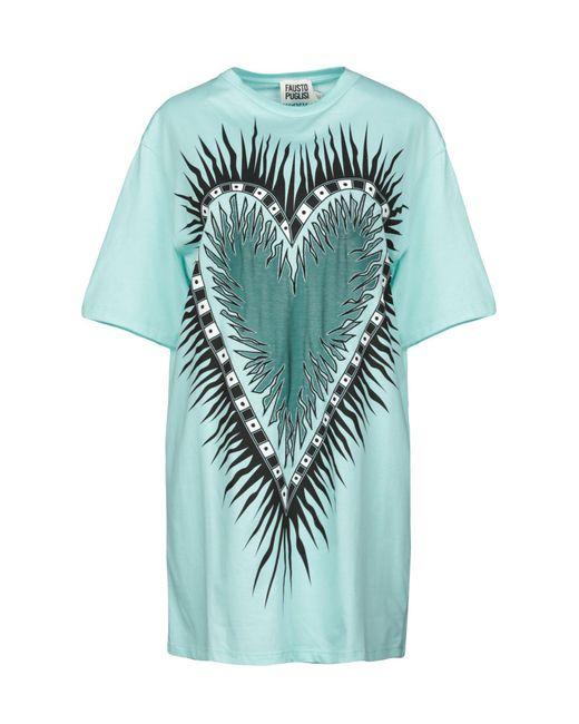Fausto Puglisi Camiseta de mujer de color azul NMIw6