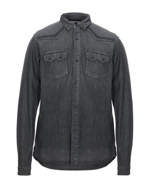 White Mountaineering Camicia jeans da uomo di colore nero