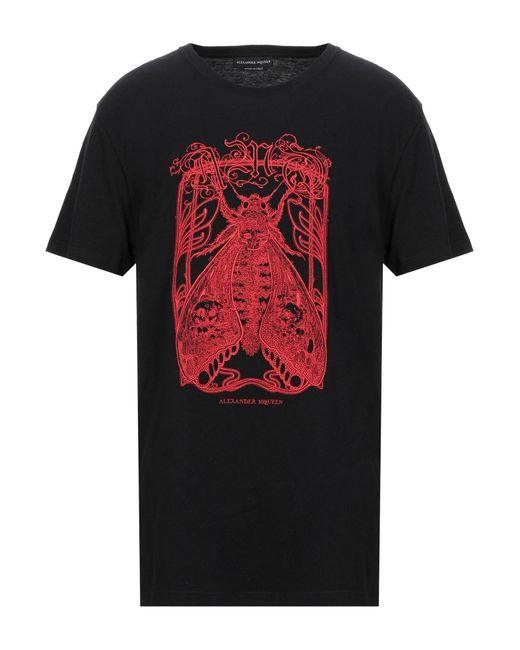 Alexander McQueen T-shirt da uomo di colore nero