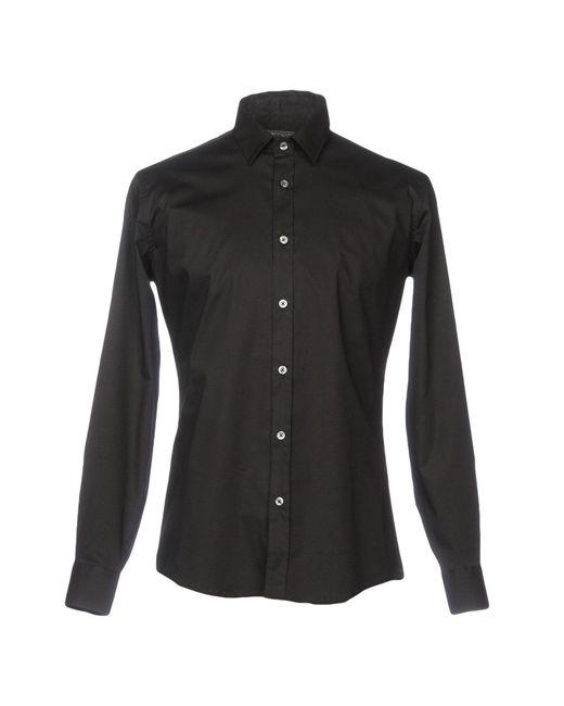 Grey Daniele Alessandrini Camicia da uomo di colore nero