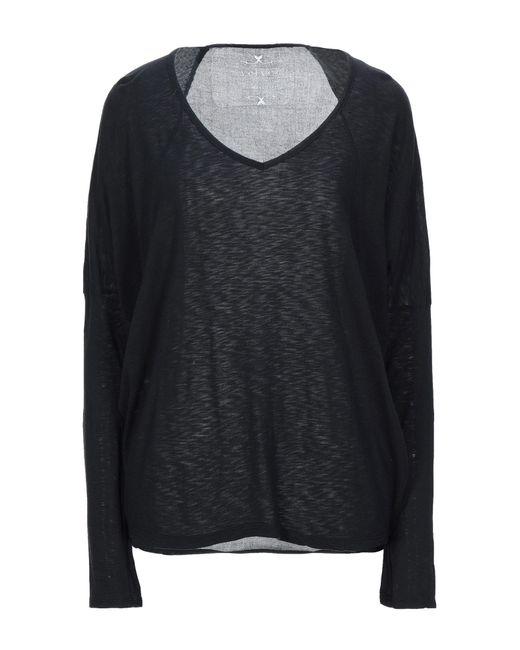 Velvet By Graham & Spencer T-shirt da donna di colore nero
