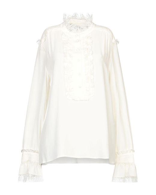 Space Style Concept Blusa de mujer de color blanco 4MGeA