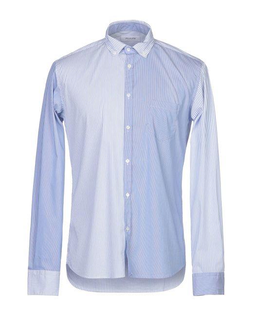 Aglini Camicia da uomo di colore blu