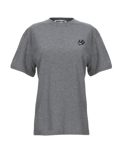 McQ T-shirt da donna di colore grigio