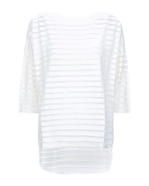 Snobby Sheep T-shirt da donna di colore bianco