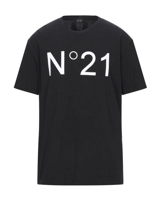 N°21 T-shirt da uomo di colore nero