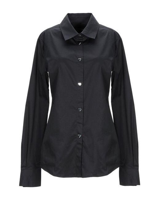 Love Moschino Camicia da donna di colore nero