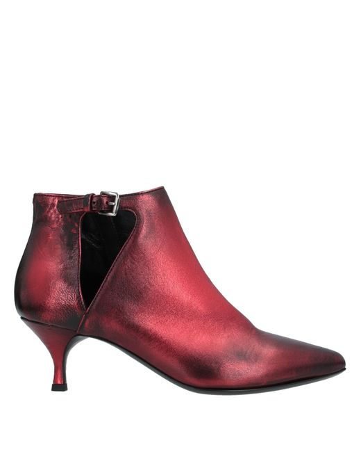 Strategia Red Ankle Boots