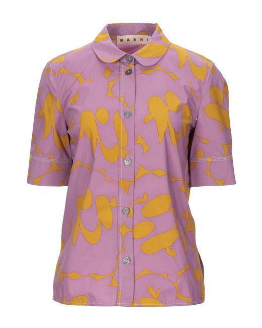 Marni Camisa de mujer de color morado lTTwH