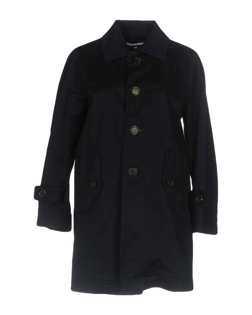 DSquared² - Blue Overcoat - Lyst