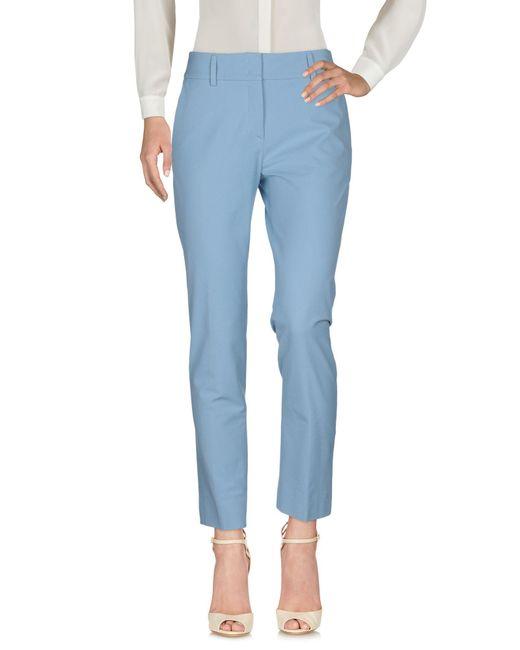 Piazza Sempione Pantalon femme de coloris bleu 4KFPZ