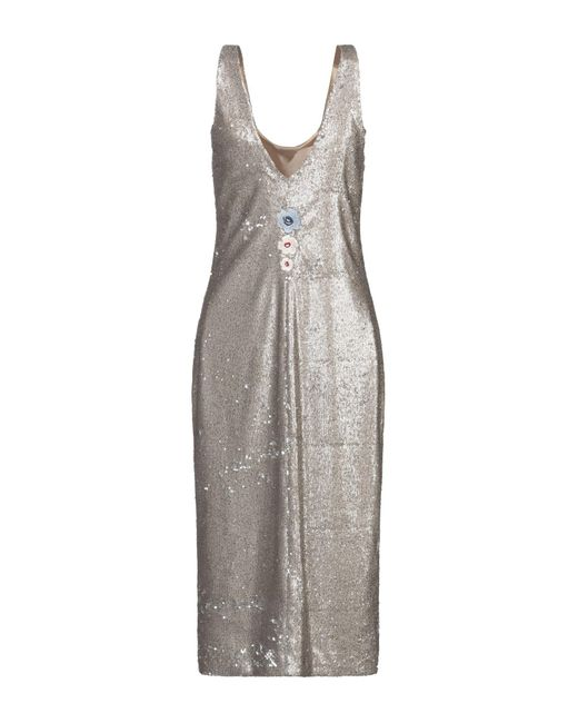 Vestido por la rodilla Manila Grace de color Metallic