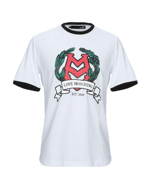 T-shirt di Love Moschino in White da Uomo