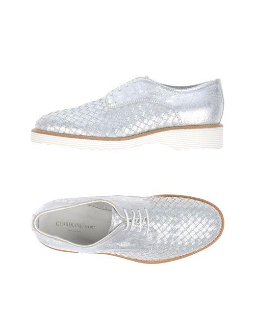 Alberto Guardiani Metallic Lace-up Shoe