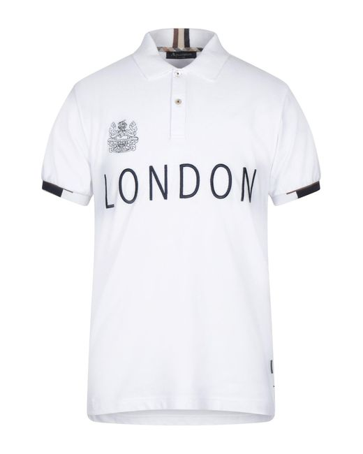 Aquascutum White Polo Shirt for men