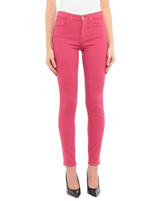 Pantalon en jean Pinko en coloris Pink