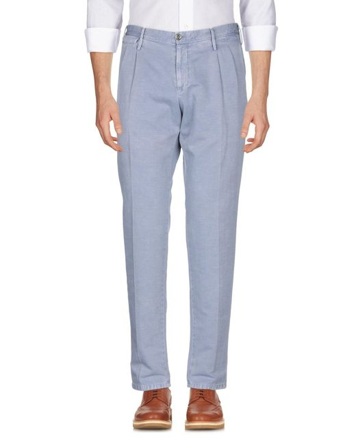 PT01 Pantalon homme de coloris bleu IReLx