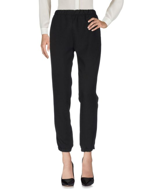 Satine Label - Black Casual Trouser - Lyst