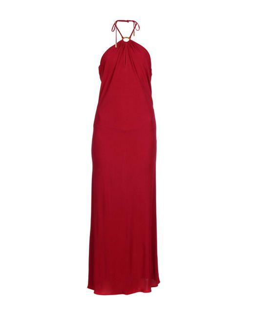 Les Copains | Red 3/4 Length Dress | Lyst