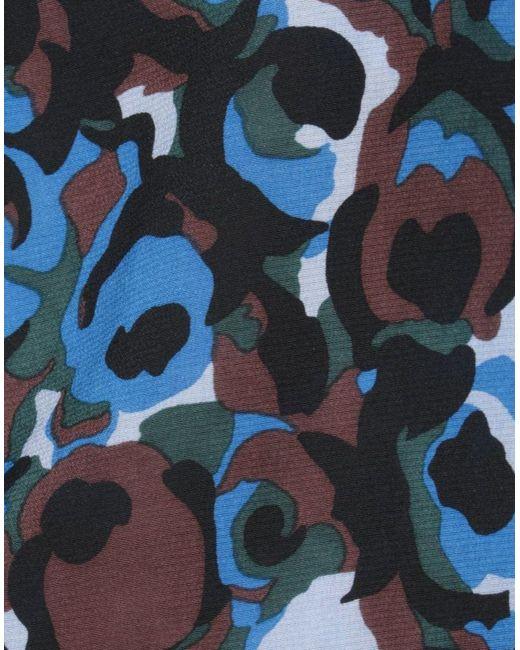 Pantaloni con motivo a fiori di Marni in Blue
