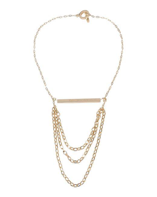 Tru Trussardi - Metallic Necklace - Lyst