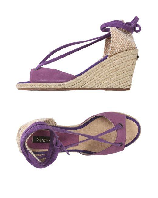 Pepe Jeans | Purple Espadrilles | Lyst