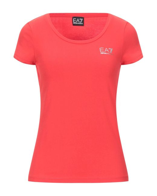 EA7 Red T-shirts