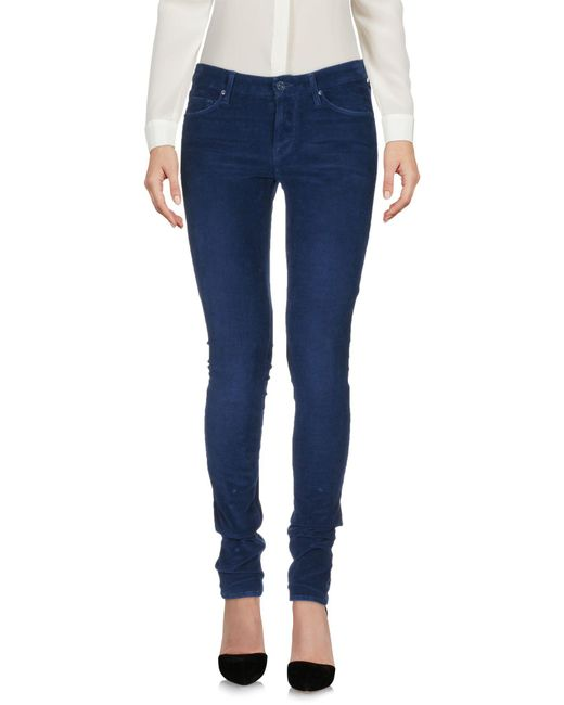 Mother Blue Casual Trouser