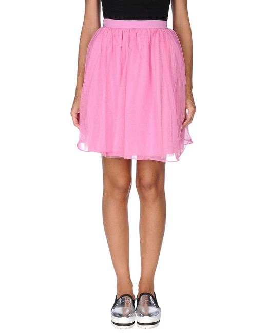 RED Valentino - Pink Knee Length Skirt - Lyst