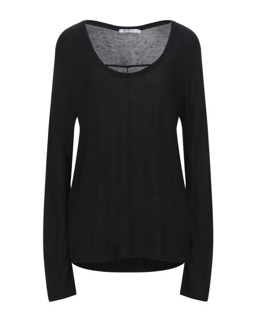 T By Alexander Wang Camiseta de mujer de color negro wyEMu