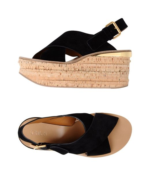 Chloé - Black Sandals - Lyst