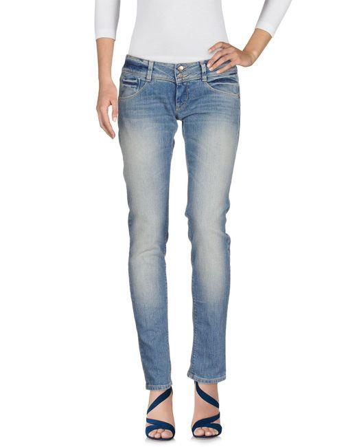 Met - Blue Denim Trousers - Lyst