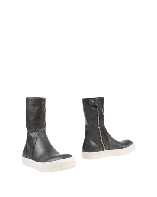 Rick Owens - Gray Boots for Men - Lyst