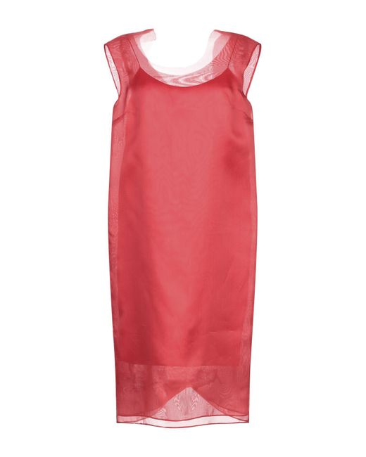 Vestido por la rodilla Maison Margiela de color Red