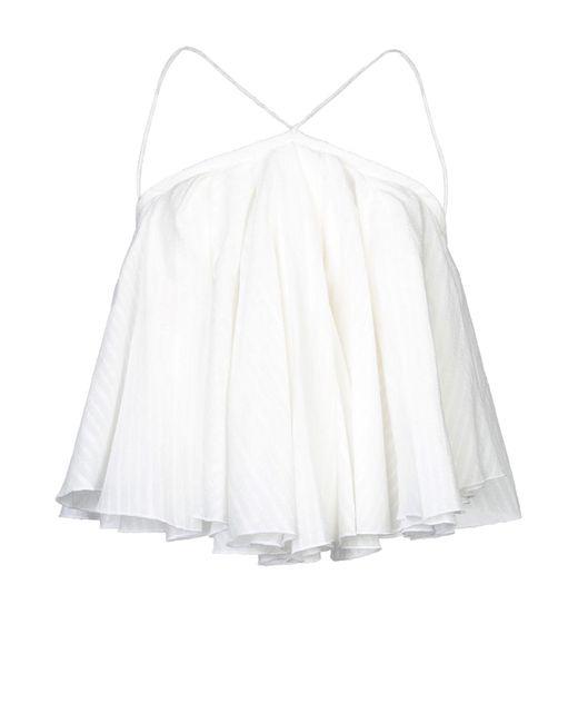 Jacquemus Top de mujer de color blanco 1hmNl