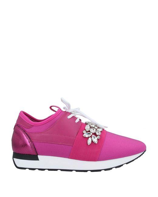 Pollini Pink Low-tops & Sneakers
