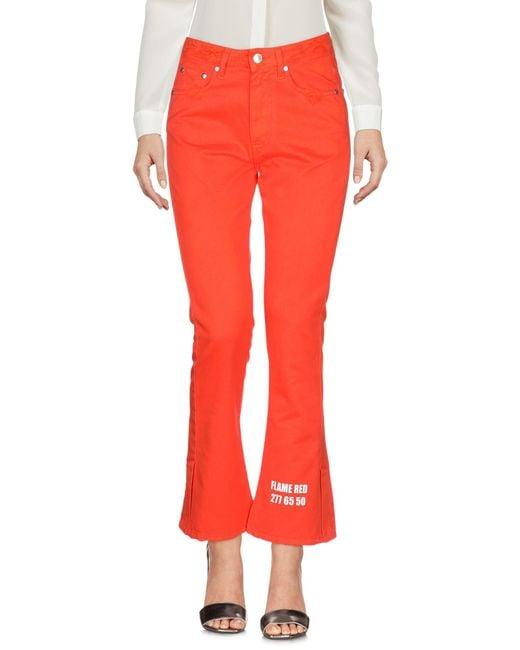 MSGM Pantalon femme de coloris orange