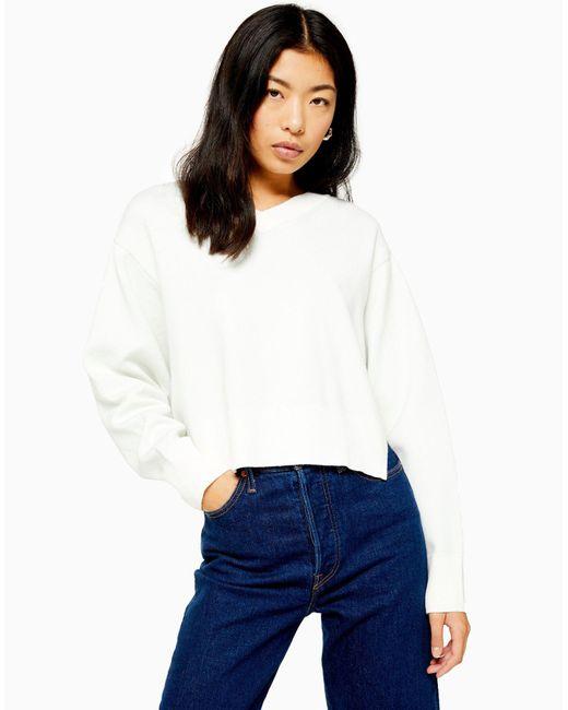 Pullover di TOPSHOP in White