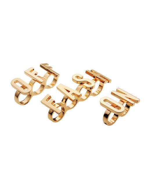 Moschino - Metallic Ring - Lyst
