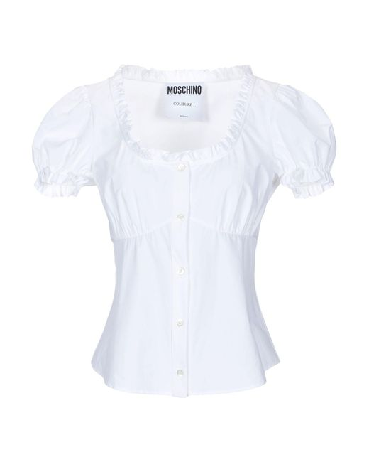 Moschino Camisa de mujer de color blanco nuNQb
